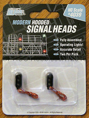 HO Scale - BLMA Models 4039 Modern Hooded Signal Heads - Operating LED's