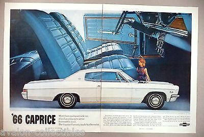 Chevrolet Caprice 2-Page PRINT AD - 1965 ~~ 1966 model