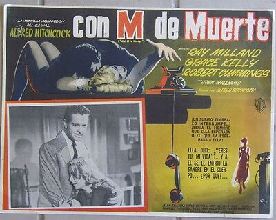 Vintage 1954  * DIAL M FOR MURDER * LC Alfred Hitchcock Lobby Card Poster