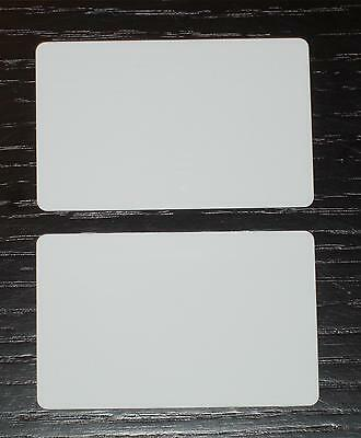 100 Blank PVC Plastic Photo ID White Credit Card 30Mil