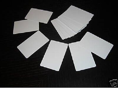 500 Blank PVC Plastic Photo ID White Credit Card 30Mil
