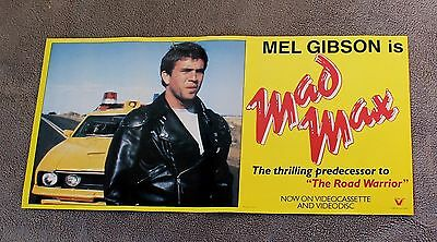 Mad Max 1983 Mel Gibson PROMO First Movie Video VHS RARE Poster VG C6