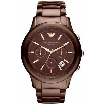 Emporio Armani® watch AR1454 Men`s Brown Ceramica
