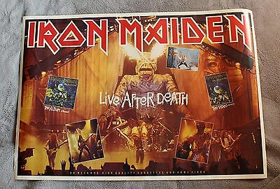 IRON MAIDEN Live After Death 1985 EDDIE LP Video Tape Photo Promo Poster VG+