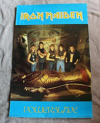 IRON MAIDEN Powerslave 1984 Pharaoh Mummy Egypt Group Photo Music Poster GVG