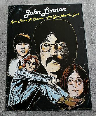 John Lennon 1980 Give Peace a Chance All You Need is Love Pro Arts Poster G C4