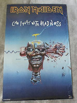 IRON MAIDEN Can I Play with Madness 1988 EDDIE Steve Harris Dickinson Poster GVG