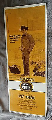 J.W.Coop 1972 Cliff Robertson Geraldine Page R.G. Armstrong Insert Poster VG C6