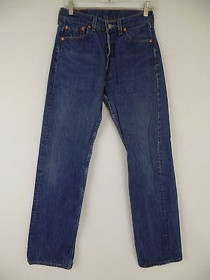 Levi 501 Red Tab Dark Wash Vintage Blue Jeans 30x34 Made in USA