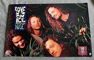 Love on Ice 1992 NUDE Portland Heavy Metal Interscope Records Promo Poster VGEX