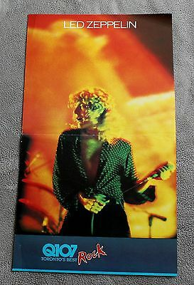 LED ZEPPELIN Jimmy Page 1983 Q107 Toronto Canada Calendar Radio Poster VG C6