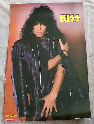 KISS Paul Stanley 1985 Star Child Mark Weiss Leather Funky Music Poster #3009 VG