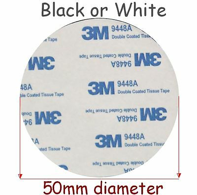 BLACK & WHITE ~ 3M EVA Foam Tape 50mm Dia x 2mm Thick ~ Double Sided VHB ~ 9448A