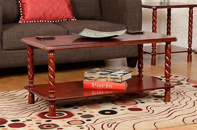 Coffee Table Mahogany Finish Occasional Living Room Furniture Brunton