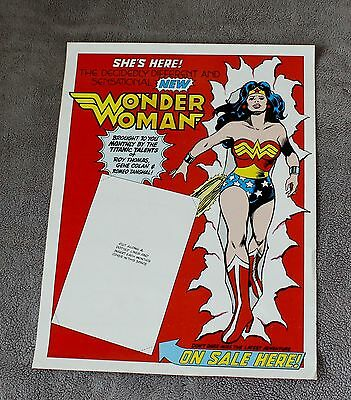 New Wonder Woman #288 1981 Roy Thomas GENE COLAN Tanghal DC PROMO Poster VGFN