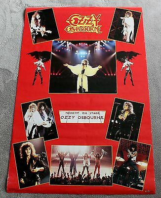 Ozzy Osbourne 8 Concert Pix 1986 Tonight on Stage Funky Music Poster #3069 VG