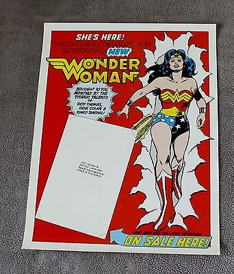 New Wonder Woman #288 1981 Roy Thomas GENE COLAN Tanghal DC PROMO Poster FN