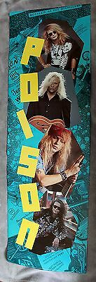 POISON 1990 Bret Michaels Rockett Dall DeVille Music RARE 6 Foot Door Poster EX