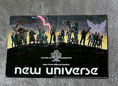 New Universe 1986 DP7 Justice Kickers Star Brand Spitfire Marvel PROMO Poster FN