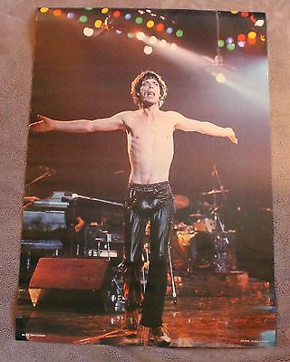 MICK JAGGER 1980s Rolling Stones Live Concert RO 007 Rockon Holland Poster VGEX