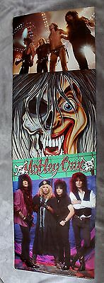 Motley Crue 1990 Feelgood Lee Sixx Mick Mars Vince Neil 6 Ft Rare Door Poster VG