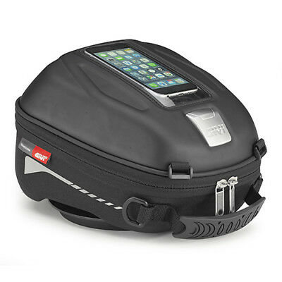 Givi ST602 Tanklock Motorcycle Soft Tank Bag - 4Ltrs (Sport-T) With Phone Window