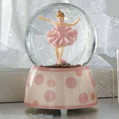 Ballerina Glitterdome Figurine MUSICAL SWAN LAKE NEW