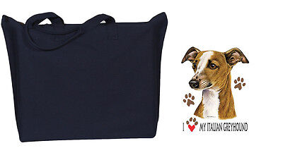 ITALIAN GREYHOUND Zipper black TOTE BAG I Love My
