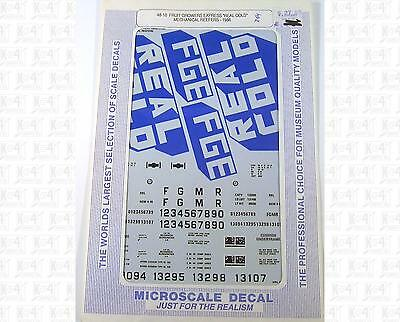 Microscale O Decals FGE Real Cold Mechanical Reefer 48-10