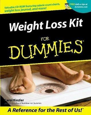 Weight Loss Kit for Dummies by Carol Ann Rinzler (2001, Paperback)W / CD