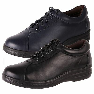New Pure Comfort Womens Leather Wide Comfort Walking Work Shoe Softly Cheap