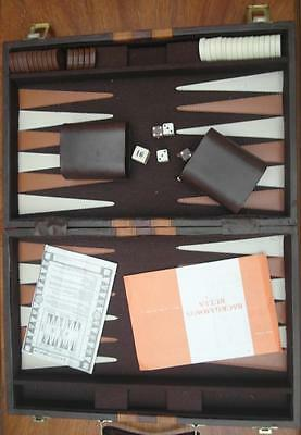 VINTAGE Retro BACKGAMMON Board GAME in Case with INSTRUCTIONS Complete Adelaide