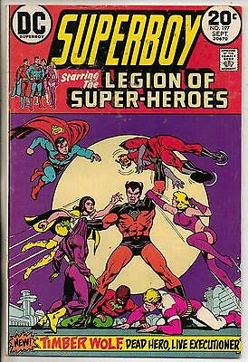 DC Comics Superboy & The Legion Of Super Heroes #197 September 1973 F+