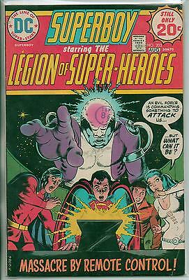 DC Comics Superboy & The Legion Of Super Heroes #203 August 1974 Key Issue F