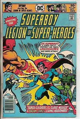 DC Comics Superboy & The Legion Of Super Heroes #220 October 1976 Scarce VF