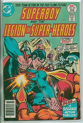 DC Comics Superboy & The Legion Of Super Heroes #225 March 1977 Scarce VF