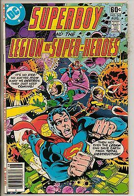 DC Comics Superboy & The Legion Of Super Heroes #242 August 1978 Giant F+