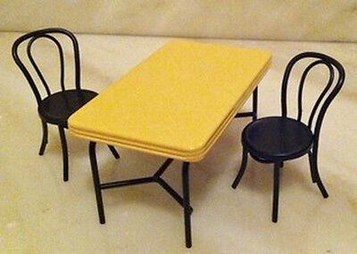 Dolls house Miniature 1950 Table And Chair's Set. Kitchen Furniture