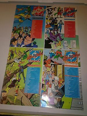 DC Comics Whos Who Update `88 #1 to 4 Complete Mini Series