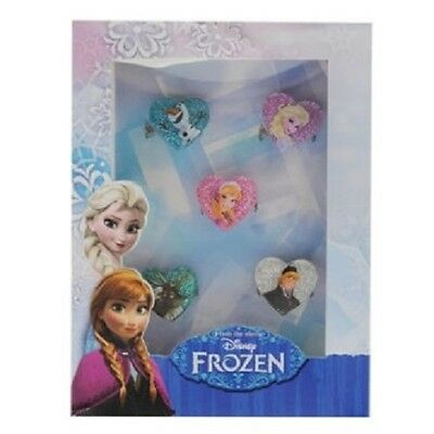 Disney Frozen Kids Girl`s 5 Piece Ring Set Gift Set New Boxed Genuine