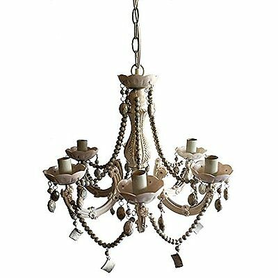 D19X20 Inch Beaded Chandelier 75765 White