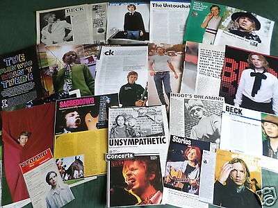 Beck -  Rock Music- Clippings /cuttings Pack