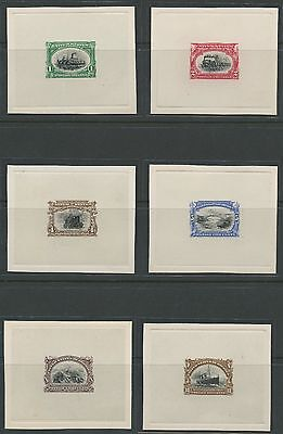 #294P1-299P1 Pan-American Set Plate Proofs On Card Xf-Superb Cv $3,450 Wlm1104