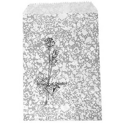 300 Jewelry Paper Shopping Gift Bag 4x6 #1Silver Tone