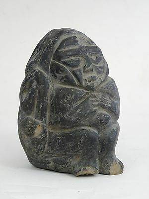 ANTIQUE PRE-COLUMBIAN GUATEMALA SHAMAN with SERPENT FIGURE