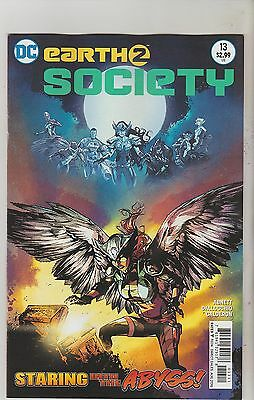 Dc Comics Earth Two Society #13 August 2016 Variant 1St Print Nm