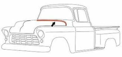 Hood To Cowl Rubber Weather Strip Seal Ea 1955-59 Chevy/GMC 1st Series Truck USA