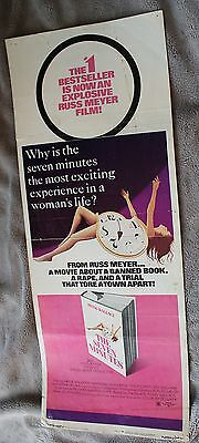 Seven Minutes 1971 RUSS MEYER Irving Wallace Yvonne De Carlo Insert Poster GVG