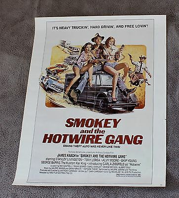 Smokey and the Hotwire Gang 1979 James Keach George Barris Video Poster VG C6