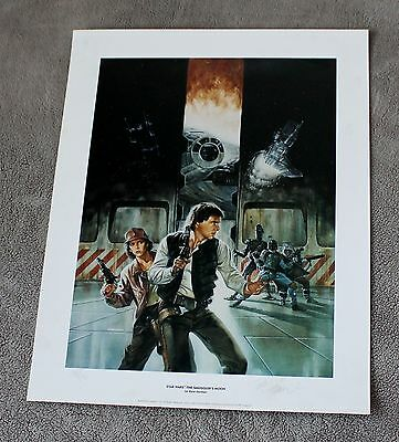 Star Wars Smugglers Moon 1994 Dave Dorman Autographed 233/1500 Limited Poster EX